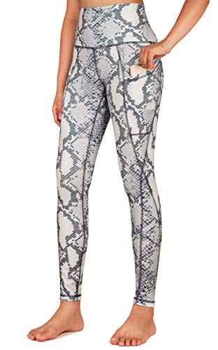 Free Leaper Mallas Mujer Fitness Push Up Leggings Running De Estampado De Serpiente Con Bolsillos Legins Deporte De Cinture Alta (Estampado Serpiente, M)