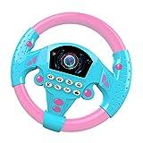 Toygogo Fahren Lenkrad Rollenspiel Spielzeuglenkrad Für Kinder Und Kleinkinder - Pink