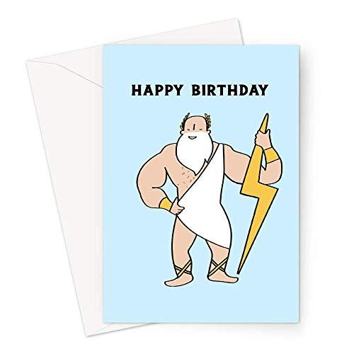 Zeus Happy Birthday Grußkarte | Buff Zeus Geburtstagskarte für Ihn, LGBT Geburtstagskarte, lustige Geburtstagskarte für Freund