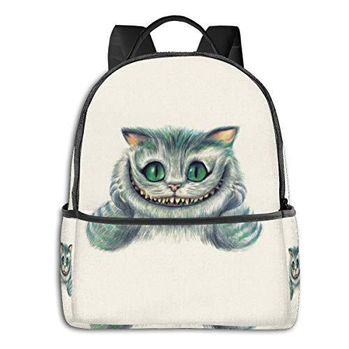 Alicia en el país de las maravillas mochila escolar para hombres mujeres se adapta a 14.5 pulgadas ligero portátil bolsa mochila de viaje versátil