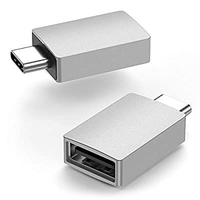 USB C to USB Adapter [2-Pack], uni USB C Male to USB A Female(Thunderbolt 3 Compatible), Up 5Gbps, Compatible with MacBook, Macbook Pro, iPad, Galaxy S20/S9/S8, XPS and All Type C Devices - Silver