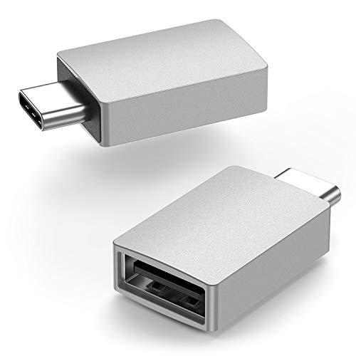 Adaptador USB C a USB [2 unidades], uni USB C a USB A (compatible con Thunderbolt 3), hasta 5 Gbps, compatible con MacBook, MacBook Pro, iPad, Galaxy S20 / S9 / S8, XPS y más
