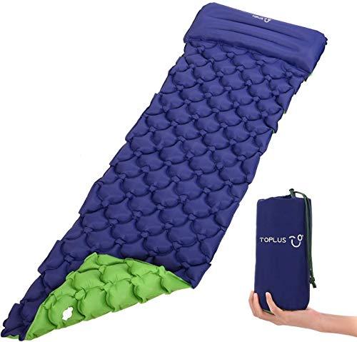 TOPLUS Colchoneta hinchable Acampada para camping, con cojín, impermeable