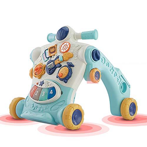 GUO@ Carrito De Bebé Caminante Rompecabezas Multifuncional Para NiñOs PequeñOs Aprende Caminando Juguete PrevencióN De La Salud Y Seguridad O-Leg Y Se Pueden Convertir En Una PequeñA Locomotora