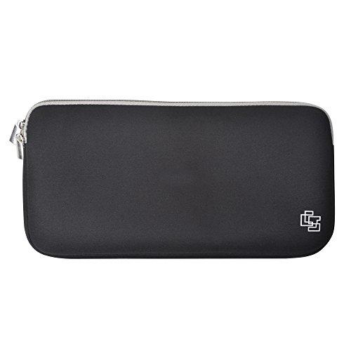 Case Star Black Color Quality Neoprene Keyboard Sleeve Case Bag with Zipper for Apple Bluetooth Wireless Keyboard MC184LL/B