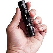 LED Taschenlampe Mini, ThorFire LED AA Taschenlampe EDC Taktische Taschenlampe IPX8 Wasserdicht Taschenlampe 500 Lumen 5 Modi Mit Strobe geeignet für AA/14500 Akku (TG06S)