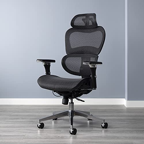 OFM 540 Ergo Office Chair featuring Mesh Back and Seat with Optional Headrest, Black