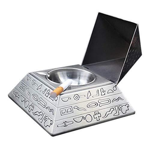 Preisvergleich Produktbild unknow Mode Metall Aschenbecher Elegante Zigarette Aschenbecher Retro Pyramide Aschenbecher mit Deckel,  selbstverlöschendem Aschenbecher,  kreativen Geschenken oder Wohnaccessoires