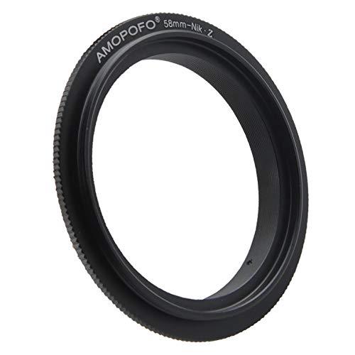 58mm to Nikon Z Retroadapter/58mm to Nikon Z Makro Umkehrring Ring, Kompatibilität für Nikon Z-Mount Z6 Z7 Kamera,zum umgekehrten Anschrauben eines Objektivs für Makroaufnahmen