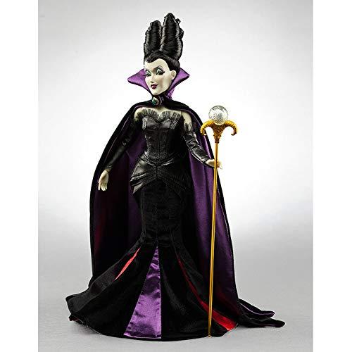 Disney Store - Muñeca maléfica clásica, 30 cm, la Bella durmiente en el bosque Aurora, Princesa bruja, mala original, edición limitada