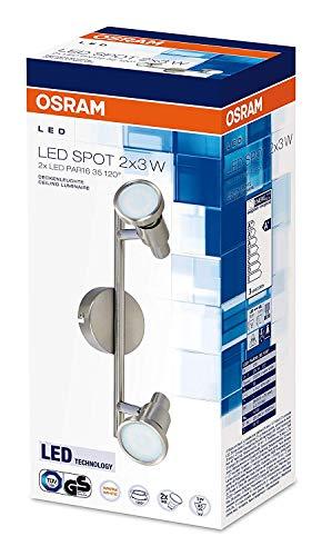 Osram LED Spot Spotlight Leuchte, für innenanwendungen, GU10 Fassung, Warmweiß, 275, 0 mm x 80, 0 mm x 146, 0 mm