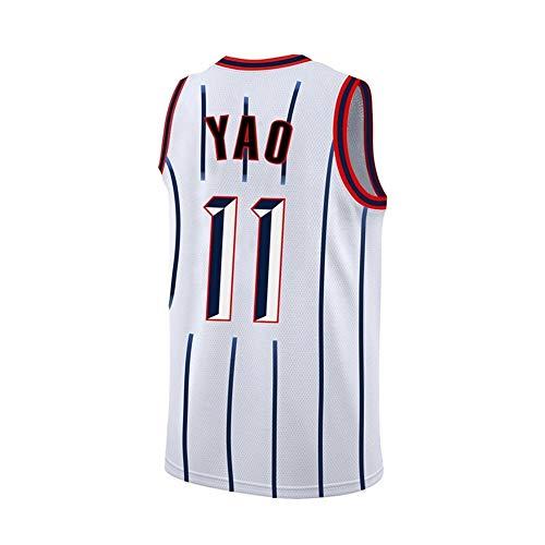 FYZS Cohetes Nº 11 YAO Novato BAI Da Yao Ming Azul Retro y Negro Juego Transpirable Retirado Camiseta de Baloncesto Uniforme (Color : Style1, Size : XX-Large)