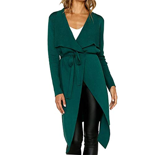 WYZTLNMA 2020 Jacket Women Long Sleeve Leather Open Front Short Cardigan Suit Plus Size Leather Jacket Solid Long Coat Green