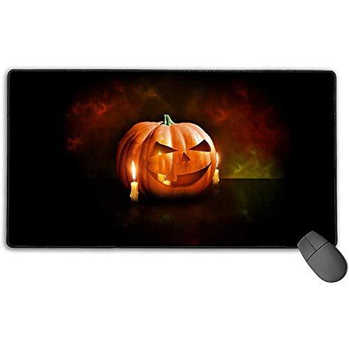 Großes Mauspad, Kürbis-Halloween-Design Erweitertes Gaming-Mauspad Matte Schreibtischunterlage Rutschfestes Gummi-Mousepad 40x75 cm