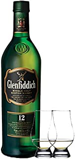 Glenfiddich 12 Jahre Single Malt Whisky 0,7 Liter  2 Glencairn Gläser