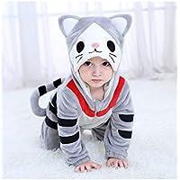 GBYAY Bebé Queso Gato Disfraz Cosplay Dibujos Animados Animales Mamelucos bebé niño Mono Halloween Disfraces