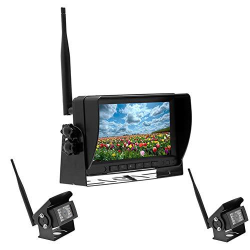 HD-bureau, 17,8 cm (7 inch), autocamera, monitor, bus of vrachtwagen, achteruit, 24 V, twee opnameingangen, camera, vibratie, waterdicht
