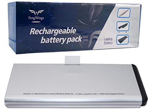 FengWings A1280 A1278 10.8V 45Wh Sostituire la Batteria Compatibile con Apple MacBook 13' A1280 (A1278 Late 2008) MB466*/A MB466CH/A MB466D/A MB467*/A MB467CH/A MB467D/A MB771G/A MB771J/A