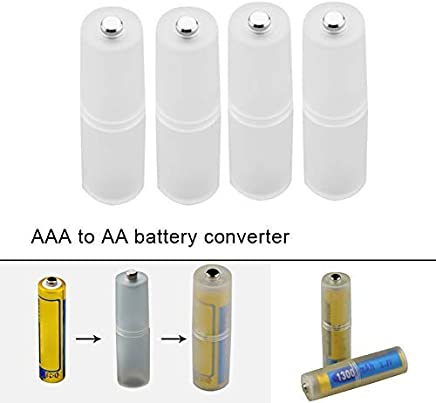 50 x 14 mm Converter//Switcher from AAA to AA Micro//Mignon size com-four/® 8-Piece Set Battery Adapter 08 pieces