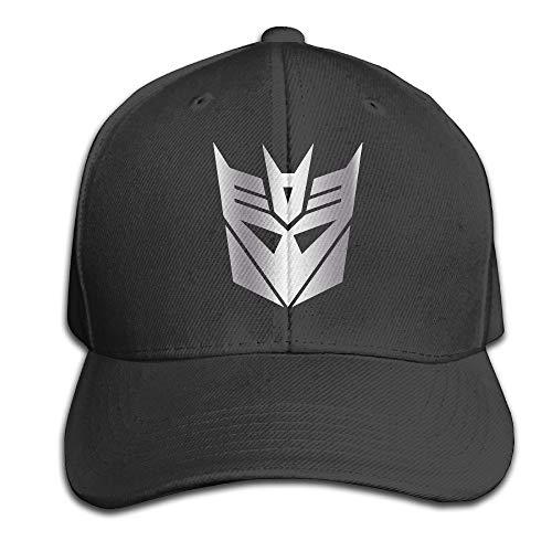 Youaini Black Decepticon from Transformer Platinum Men Adjustable Peaked Baseball Caps Black