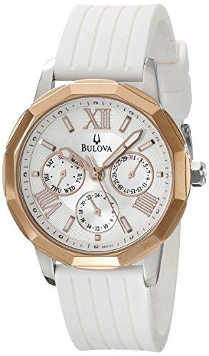 Bulova 98N101–Orologio per Donna con cinturino in gomma, colore: grigio
