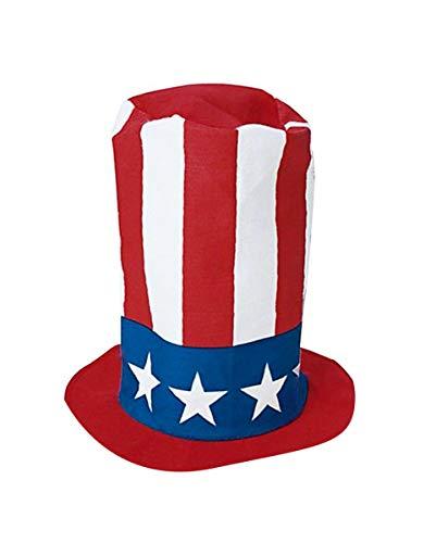 Horror-Shop Uncle Sam USA Zylinder   30cm hoch