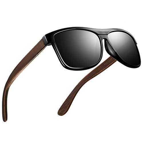 FEIDU Retro Polarisierte Damen Sonnenbrille- Herren Sonnenbrille Outdoor UV400 Brille,Farblinse, Strandreisen unerlässlich für Fahren Angeln Reisen FD 0628 (Z-Helles Schwarz-Einfacher, 60)