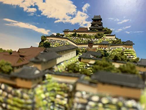日本100名城 現存天守12城 丸岡城 お城 模型 本丸のジオラマ完成品 A4
