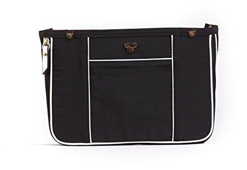 PurseN Handtaschen-Einsatz, hochwertig, klein – erweiterbar bis mittelgroß Gr. Small, Blanc Noir