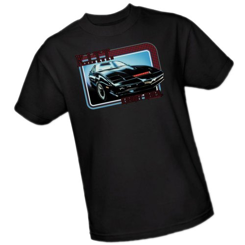 Licensed KITT Knight Rider Adult T-Shirt, S to 3XL