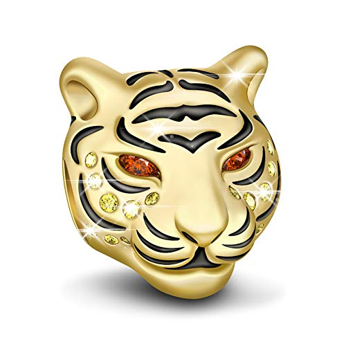 GNOCE Royal Tiger Charm Anhänger 925 Sterling Silber