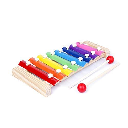 SLKIJDHFB Xylophon für Kinder, hölzerne Oktave, Xylophon, pädagogisches Musikspielzeug, Perkussionsinstrument, Spielzeug ist ein ideales Geschenk für Ihre Kinder.
