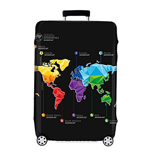 OuLi Store Housse de Valise 18-32 Pouces Fibre de Charbon de Bambou Luggage Cover en Polyester Clear Voyage Luggage Trolley Case Cover Protector (Couleur 1, XL)