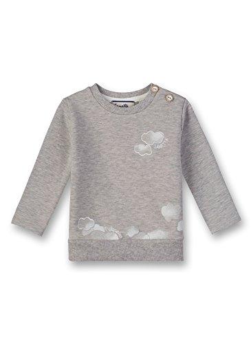 Sanetta Sanetta Baby-Unisex Sweatshirt, Grau (Stone Mel. 1786.0), 6 Monate (Größenhersteller 68)