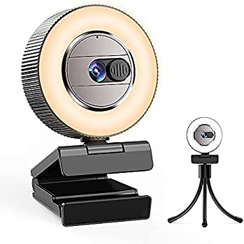 CASECUBE 2K Quad HD Webcam with Microphone and Ring Light