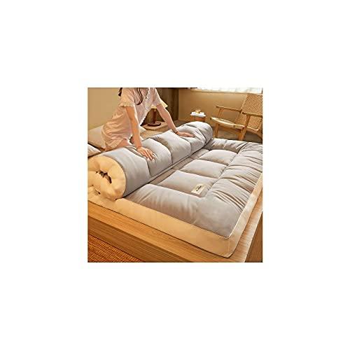 HUANXA Matelas de futon Pliant Japonais, Matelas de Sol épaissi Double Complet Reine Roi Tatami Tapis de Couchage Portable surmatelas de lit de Sol surmatelas