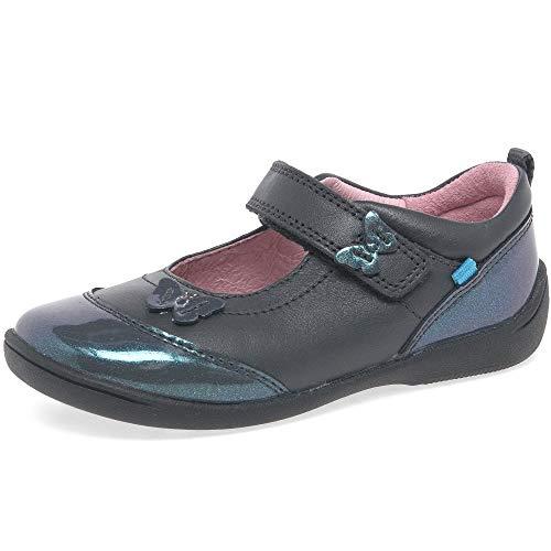 Startrite Swing 2 Filles en Cuir Bébé Mary Jane RIP Tape Shoes 8.5 G Gunmetal Mix