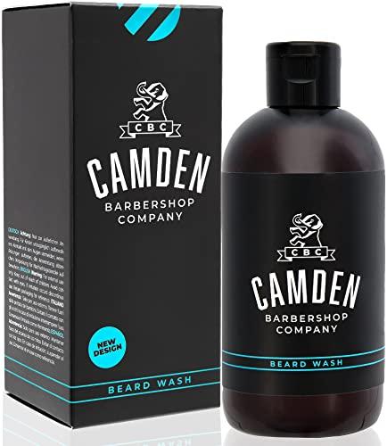 2-in-1 Bartshampoo von Camden Barbershop Company ● hergestellt in Großbritannien ● natürliche Bartpflege & Gesichtsreinigung ● frischer Duft ● ohne Parfüm ● 250 ml