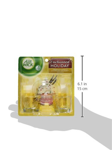 Air Wick Enchanted Holiday Frosted Vanilla & Cupcake Delight Scented Oil Refill, Twin Pack