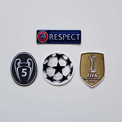 UEFA Champions League Patch FC Barcelona 2015 World Champions Messi Suarez Modric Griezmann De Jong Pique
