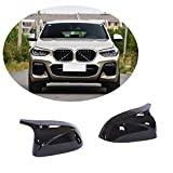 MCARCAR KIT Mirror Cover fits BMW X3 G01 X4 G02 X5 G05 X6 G06 xDrive20i xDrive30i M40i SUV 2018-2020 Replacement Side Rearview Mirror Caps Car Exterior Outside Shell (Gloss Black ABS)