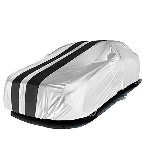 YU-ZC0 Atmungs Prevent Sonneneinstrahlung Autoabdeckung Kleiderschranks Kompatibel mit Chevrolet,Grau,Malibu