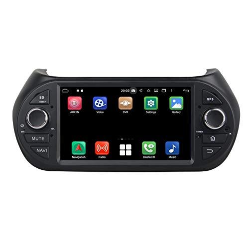 Android 10.0 Autoradio Navigazione GPS per Fiat Fiorino(2008-2015), 4 GB RAM 64 GB ROM, 7 Pollici Touchscreen Lettore Radio Bluetooth