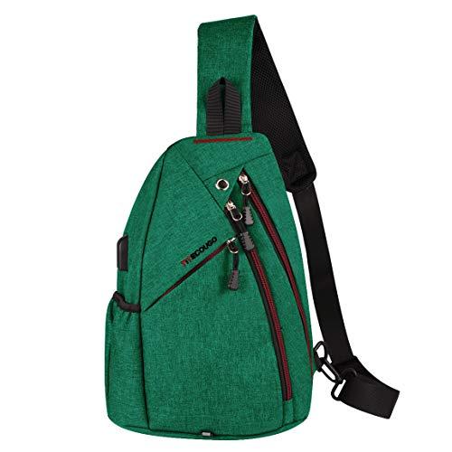 バッグ 斜め掛け ショルダーバッグ ボディバッグ メンズ 肩掛け 鞄 レディース ワンショルダー 外付け USBポート 充電 軽量 シンプル スポーツ 海外旅行 リュック 山用 釣り 通勤用 3way バッグ 無地 ipad 収納可能 エメラルドグリーン