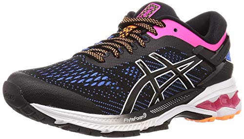 Asics Gel-Kayano 26, Running Shoe Womens, Black/Blue Coast, 39.5 EU