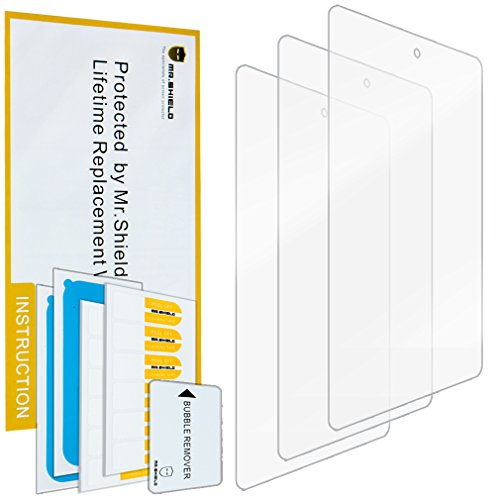 Mr.Shield for Amazon New - Fire Tablet 7' 7 Inch (5th Generation - 2015 Release) Premium Clear Screen Protector [3-Pack] with Lifetime Replacement