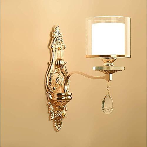 CHOUCHOU Apliques Pared Diseño de Lujo Moderno de Cristal Decorativo de la Pared de iluminación Sala Comedor Dormitorio Decoración lámpara de Pared de Metal