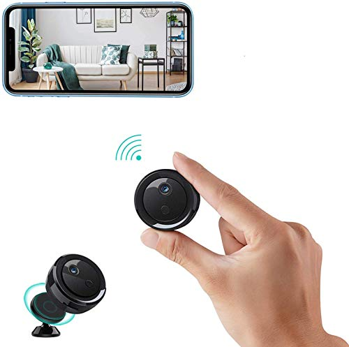 Spy Camera Hidden Wireless Camera WiFi Mini HD Battery Powered Home Security Cameras Covert Nanny Cam Free Phone APP Small Indoor Outdoor Video Recorder Motion Detection Night Vision Surveillance Pet