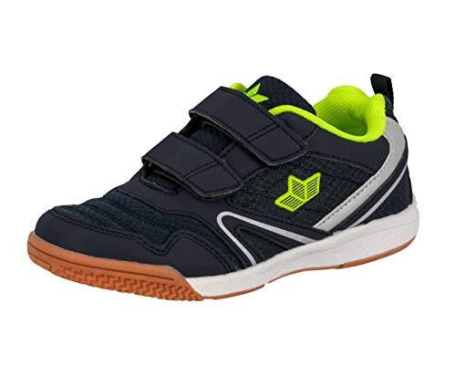Lico Unisex - Kinder Halbschuhe Boulder V,Kletthalbschuhe,lose Einlage, strassenschuh freizeitschuh Halbschuh Sneaker,Marine/Lemon,31 EU