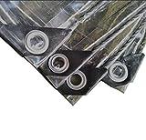 LYLSXY Lonas, Lona Impermeable Transparente Multiusos Multiusos de Uso Multiusos Fáciles de Plegar Anti-Aros de Invernaderos Cubiertos Resistentes a Uv Refugio para Camping Pesca Senderismo,3M × 4M